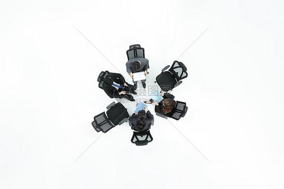 商务俯拍图片