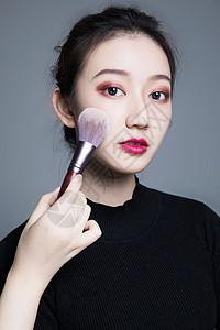 美女彩妆妆面图片