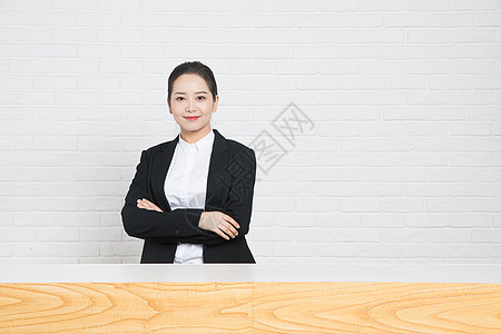 商务女性前台图片