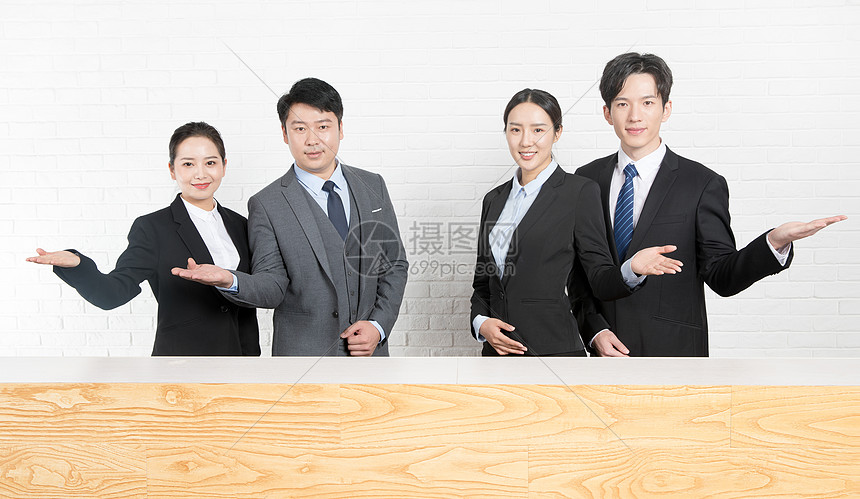 商务人士公司前台图片