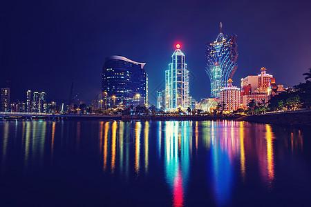 美丽夜景的澳门新葡京图片