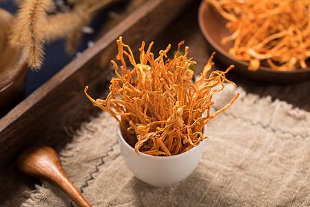 食材虫草花图片