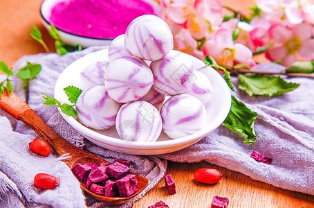 紫薯水晶汤圆图片