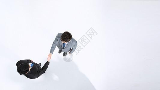 商务人士合作俯拍图片