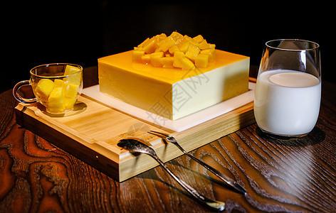 芒果慕斯蛋糕图片