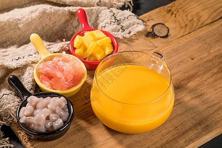 杨枝甘露饮品材料图片
