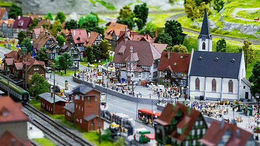 欧洲小镇模型图片