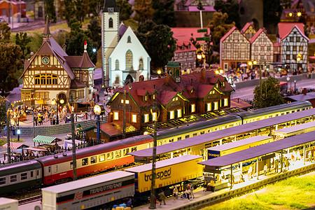 夜晚欧洲小镇图片