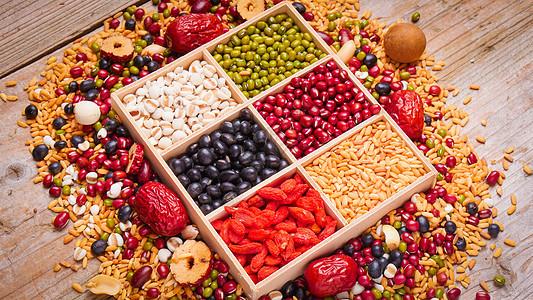 年味杂粮粥食材图片