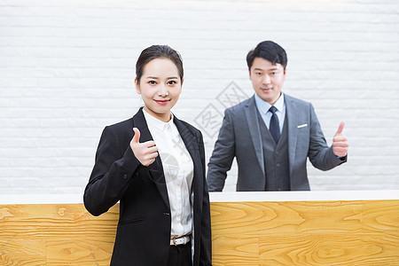 前台商务人士图片
