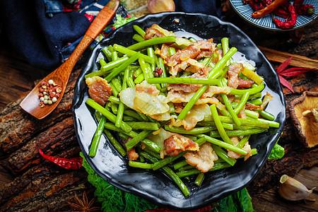土菜腊味菜薹图片