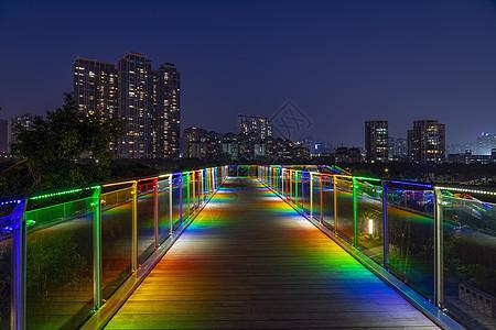 深圳香蜜公园五彩桥图片