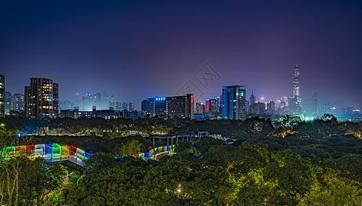 深圳香蜜公园夜景图片