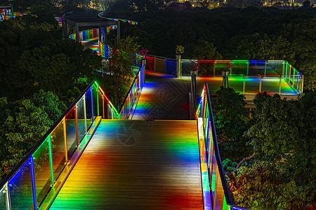 深圳香蜜公园道路夜景图片
