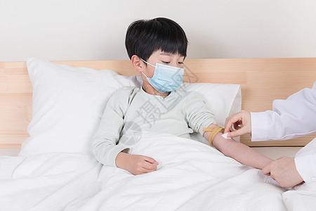 小朋友生病打针图片