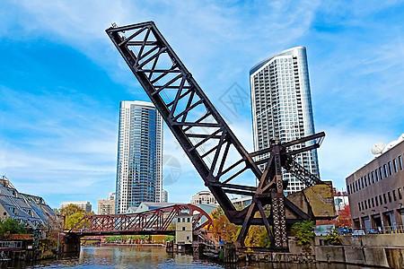 芝加哥城市钢筋建筑图片