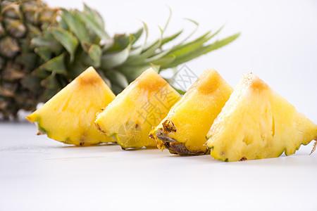 新鲜水果菠萝切片图片