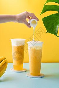 奶盖饮品图片