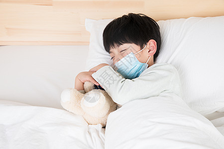 生病睡觉的小朋友图片