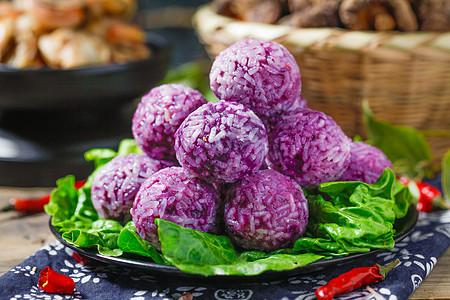 麻辣烫紫薯糯米丸图片