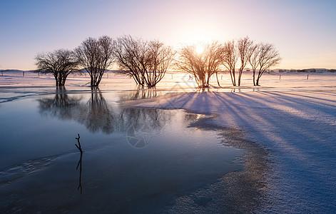 冬天雾凇风光图片
