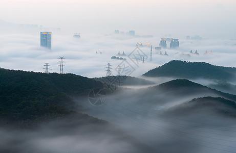 大连平流雾图片