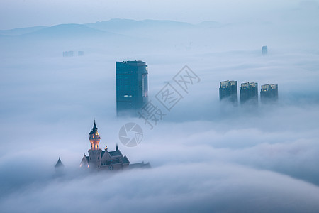 海市蜃楼平流雾图片