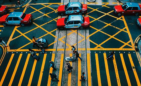 俯瞰香港街景图片