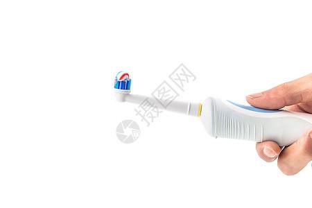 电动牙刷棚拍图片