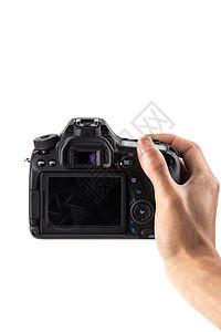 单手手持相机拍摄图片