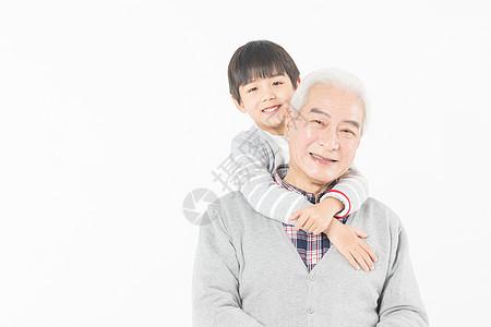 祖孙情爷爷和孙子图片