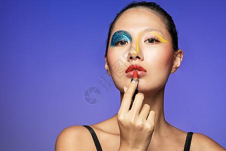 色彩美妆美女图片