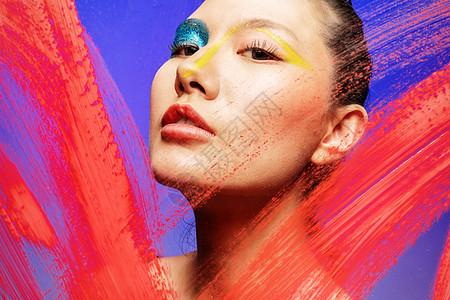 时尚色彩美妆美女图片