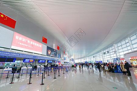 机场值机柜台图片