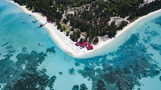 马来西亚环滩岛航拍图片
