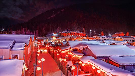 中国雪乡夜景图片
