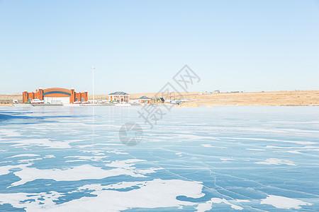 冬季内蒙古呼伦贝尔呼伦湖风光图片