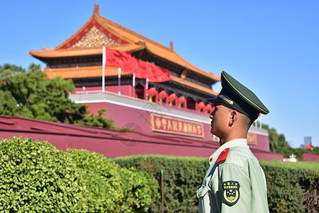 天安门前站岗的士兵图片