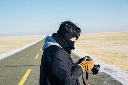 拍摄公路风景图片