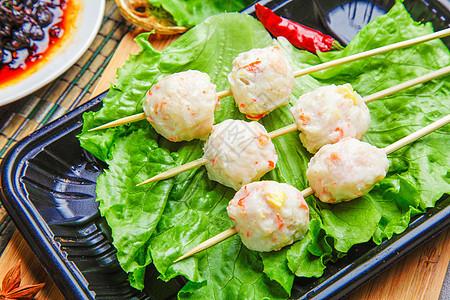 火锅虾丸子图片
