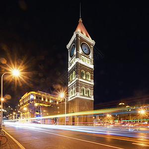 天津意式风情街的钟楼图片