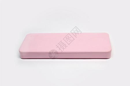 白底粉色充电宝图片