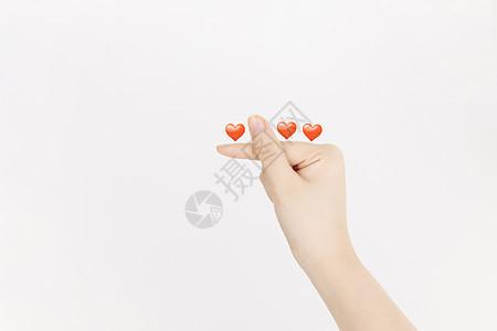 情人节比心手势图片