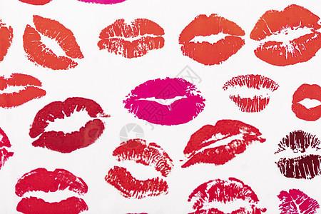 情人节妇女节口红唇印图片