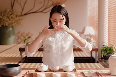 美女品茶图片