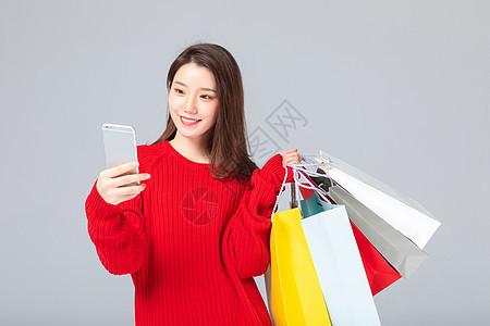女性网上购物图片