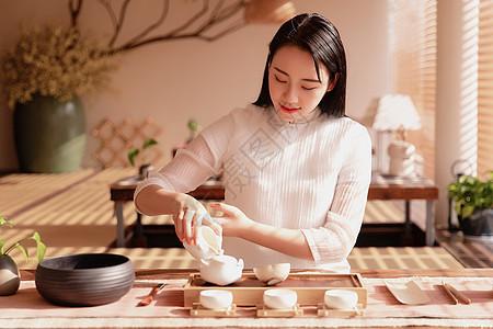 女性茶艺图片