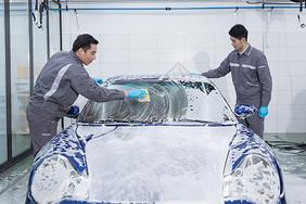 汽车肥皂泡清洗图片