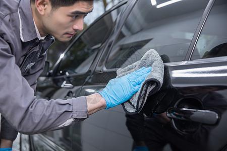 汽车清洁保养图片