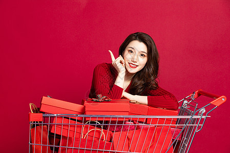 女性购物形象图片